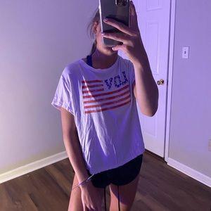 Divided H&M LOVE American flag t-shirt